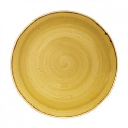 Churchill Super Vitrified Stonecast Mustard Seed Yellow Coupe Plate 260mm