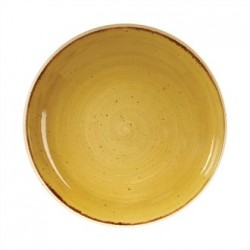 Churchill Super Vitrified Stonecast Mustard Seed Yellow Coupe Bowl 248mm