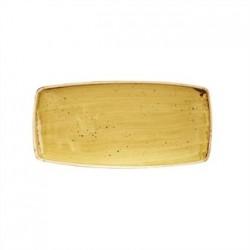 Churchill Super Vitrified Stonecast Mustard Seed Yellow Rectangular Plate 298mm