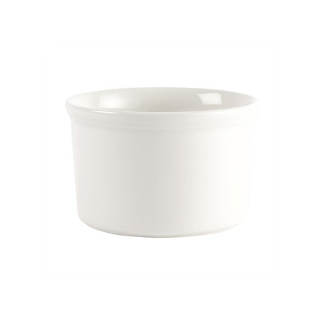 Churchill White Souffle Dishes 100mm