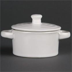 Olympia Mini Round Pots White 142ml 5oz