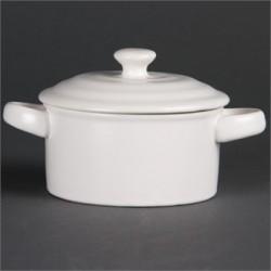 Olympia Mini Round Pots White 227ml 8oz