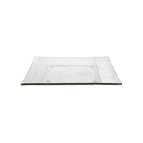 Olympia Square Glass Plates Clear 265mm