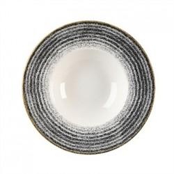 Churchill Studio Prints Charcoal Black Wide Rim Bowl 280mm