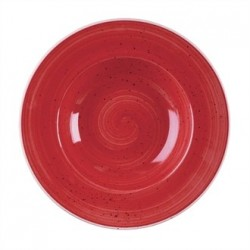 Churchill Stone Cast Berry Red Wide Rim Bowl 280mm
