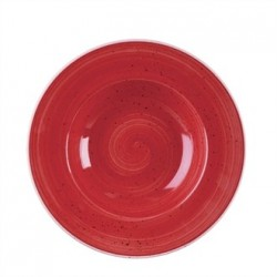 Churchill Stone Cast Berry Red Wide Rim Bowl 240mm