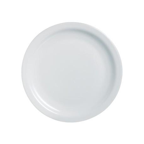Arcoroc Opal Hoteliere Narrow Rim Plates 254mm