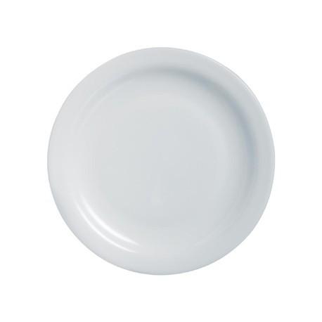 Arcoroc Opal Hoteliere Narrow Rim Plates 236mm