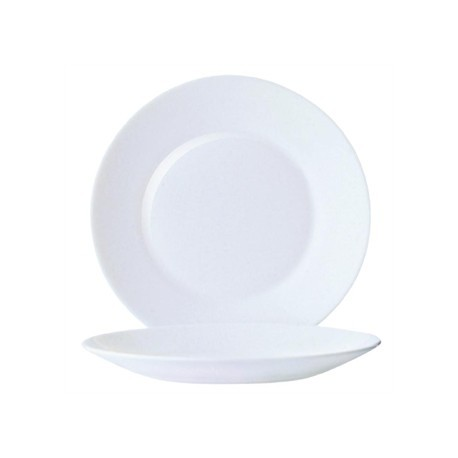 Arcoroc Opal Restaurant Wide Rim Plates 235mm
