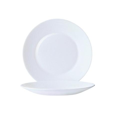 Arcoroc Opal Restaurant Wide Rim Plates 195mm