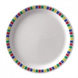 Kristallon Fairground Melamine Dinner Plates 230mm