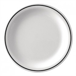 Kristallon Black Band Melamine Side Plates 160mm