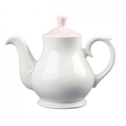 Churchill Vintage Cafe 462ml Teapots and Pink Lids