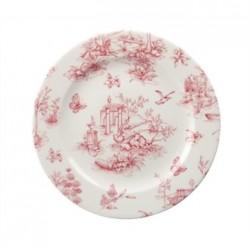 Churchill Vintage Prints Tea Plates Cranberry Toile Print 210mm