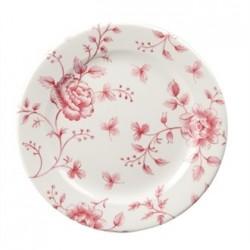Churchill Vintage Prints Tea Plates Cranberry Rose Print 170mm