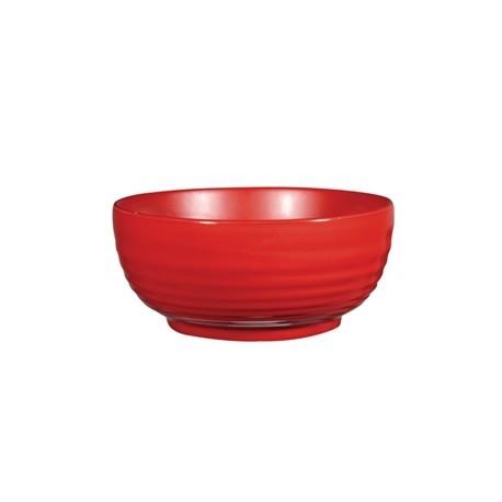 Art de Cuisine Red Glaze Ripple Bowls Large