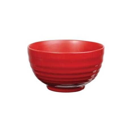 Art de Cuisine Red Glaze Ripple Bowls Small
