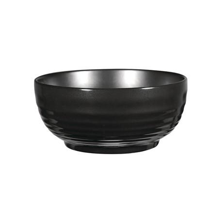 Art de Cuisine Black Glaze Ripple Bowls Large