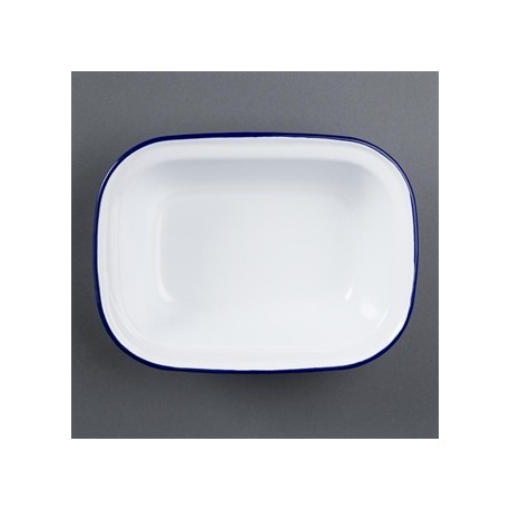 Olympia Enamel Pie Dish Rectangular 180 x 135mm
