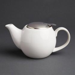 Olympia Cafe Teapot 510ml White