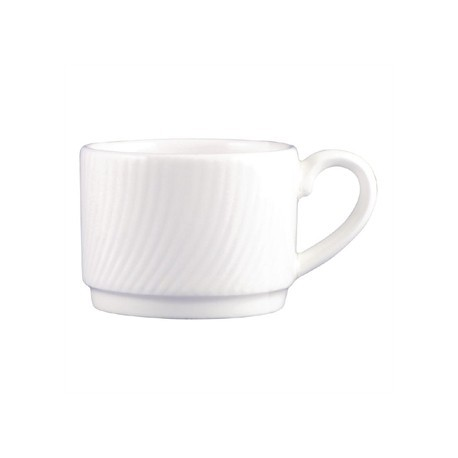 Dudson Twist Espresso Cup White 90ml
