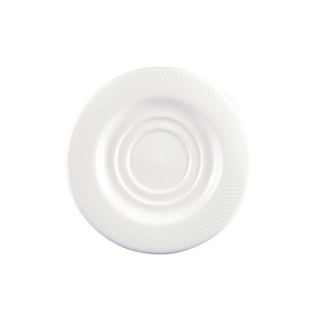 Dudson Twist Espresso Saucer White 130mm