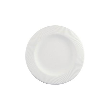 Dudson Twist Soup Plate White 225mm