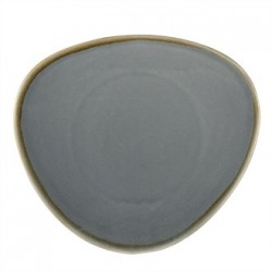 Olympia Kiln Triangular Plate Ocean 280mm