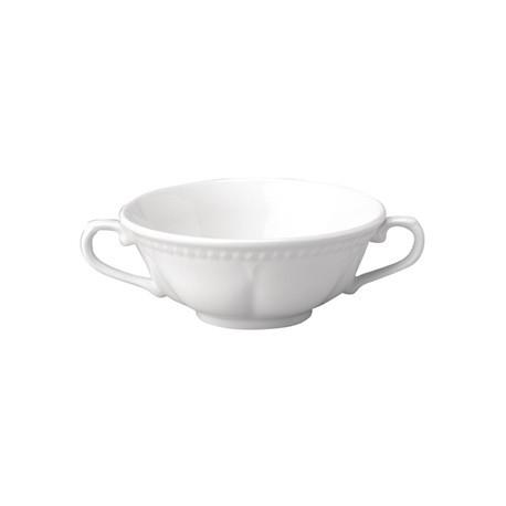 Churchill Buckingham White Handled Soup Bowls 384ml