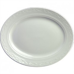 Churchill Chateau Blanc Oval Plates 305mm