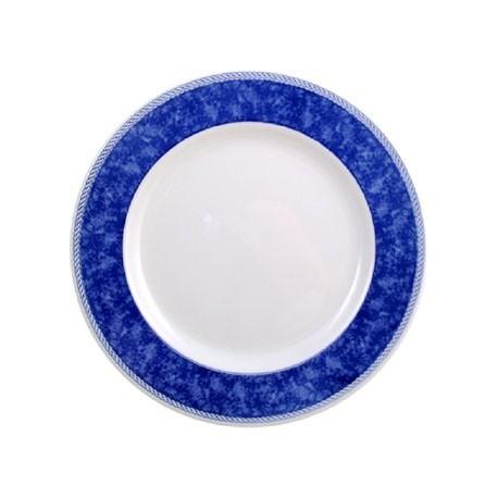 Churchill New Horizons Marble Border Classic Plates Blue 165mm