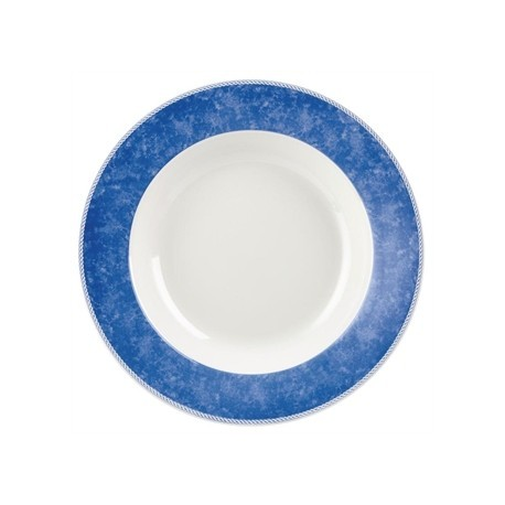 Churchill New Horizons Marble Border Pasta Plates Blue 300mm
