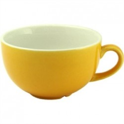 Churchill New Horizons Colour Glaze Cappuccino Cups Yellow 284ml