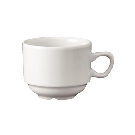 Churchill Plain Whiteware Stacking Nova Tea Cups 212ml