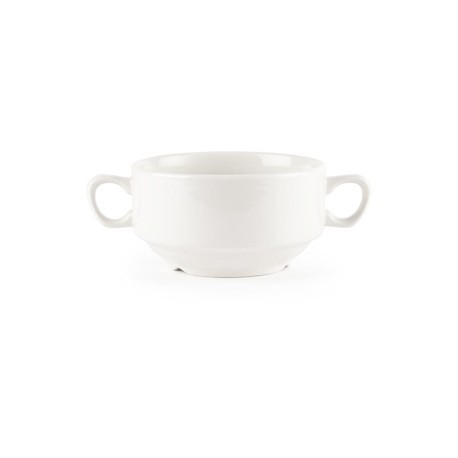 Churchill Whiteware Handled Soup Bowls 398ml