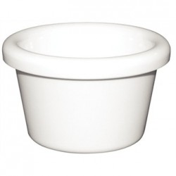 Kristallon Melamine Plain Ramekins White 63mm