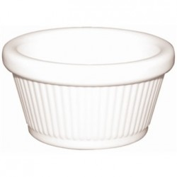 Kristallon Melamine Fluted Ramekins White 89mm