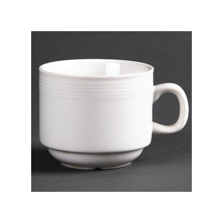 Olympia Linear Stacking Tea Cups 200ml 7oz