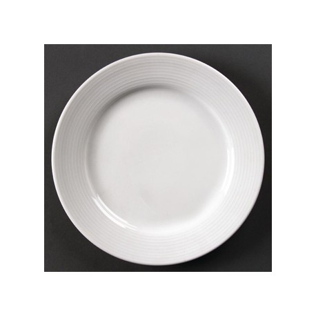 Olympia Linear Wide Rimmed Plates 200mm