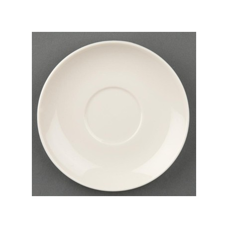 Olympia Ivory Espresso Stacking Saucers