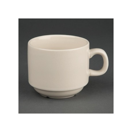 Olympia Ivory Stacking Tea Cups 206ml 7.5oz