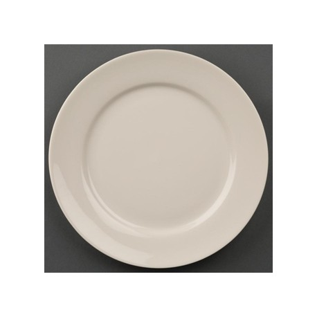 Olympia Ivory Wide Rimmed Plates 200mm