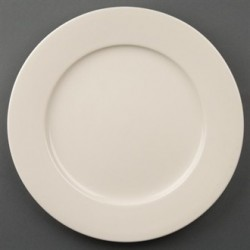 Olympia Ivory Wide Rimmed Plates 280mm