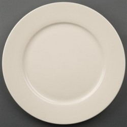 Olympia Ivory Wide Rimmed Plates 310mm