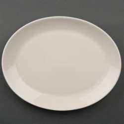 Olympia Ivory Oval Coupe Plates 290mm