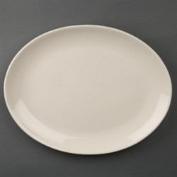 Olympia Ivory Oval Coupe Plates 330mm
