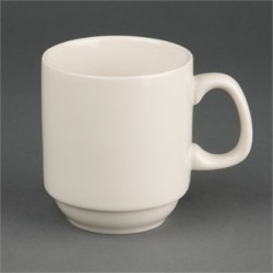 Olympia Ivory Stacking Mugs 285ml 10oz