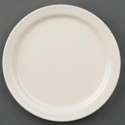 Olympia Ivory Narrow Rimmed Plates 175mm