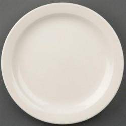 Olympia Ivory Narrow Rimmed Plates 200mm