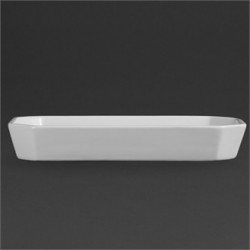 Olympia Whiteware Oblong Hors d'Oeuvre Dishes 264x 144mm